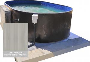 Сборный овальный бассейн ЛАГУНА 40020002 400х200х125 (светло-серый)