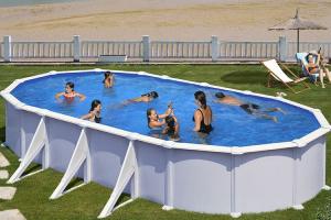 Каркасный бассейн GRE KITPR738MAG овальный 730x375x132 см