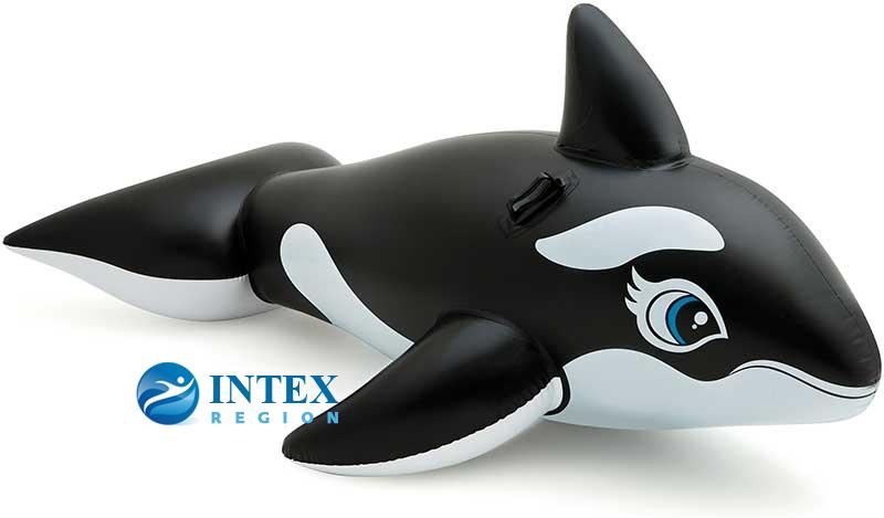 """Надувная игрушка-наездник """"Касатка"""" Intex арт.58561, 193х119см"""