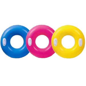Надувной круг Hi-gloss с ручками Intex арт.59258 76см, 3 цвета от 8 лет