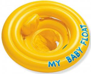 Надувной круг с трусами желтый, Intex арт.56585 70см. до 1 года